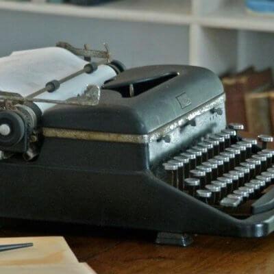 typewriter - 1920s books
