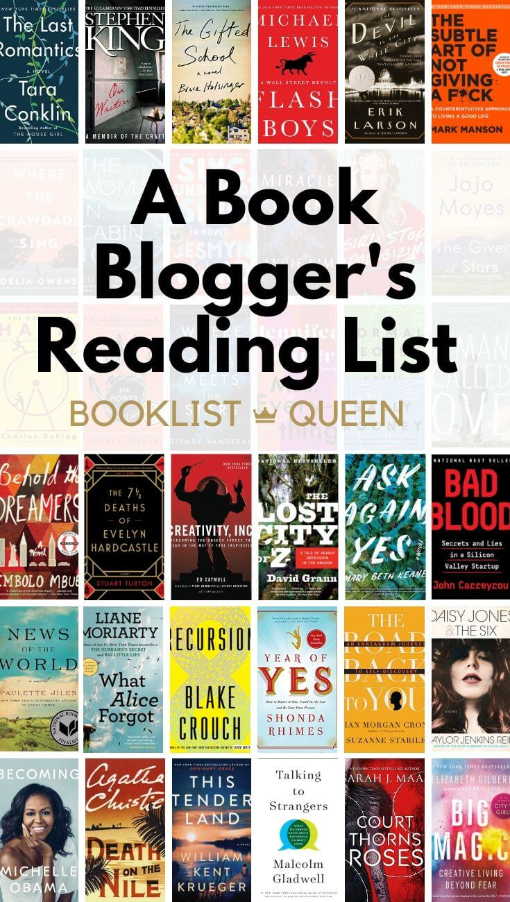 A Book Blogger's 2019 Reading List