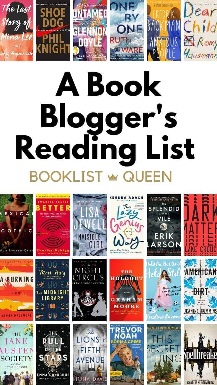A Book Blogger's 2020 Reading List
