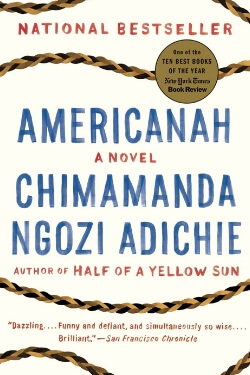 book cover Americanah by Chimamanda Ngozi Adichie