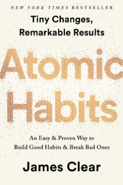 book cover Atomic Habits by James Clear