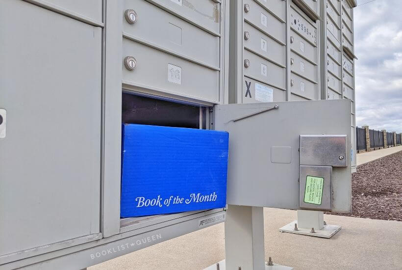 Book of the Month box in a mailbox