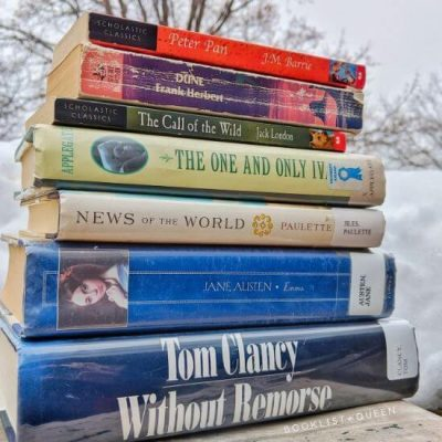 book stack - Book to Movie Adaptations in 2020