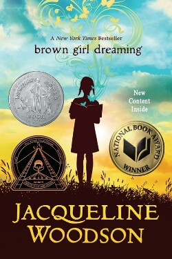 book cover Brown Girl Dreaming by Jacqueline Woodson