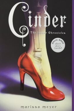 book cover Cinder by Marissa Meyer