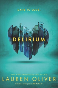 book cover Delirium by Lauren Oliver