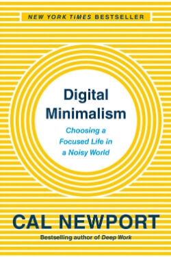 book cover Digital Minimalism by Cal Newport