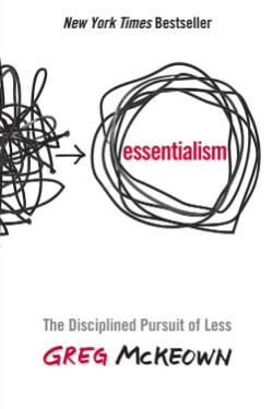 book cover Essentialism by Greg McKeown
