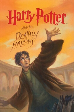 book cover Harry Potter and the Deathly Hallows by J. K. Rowling