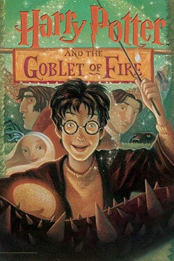 book cover Harry Potter and the Goblet of Fire by J. K. Rowling