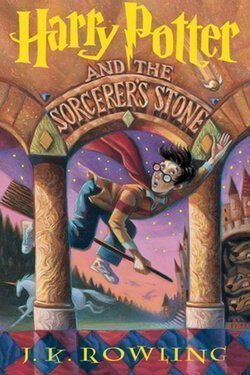 book cover Harry Potter and the Sorcerer's Stone by J. K. Rowling