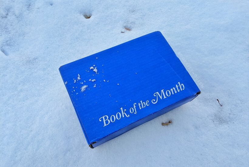 Book of the Month box in snow