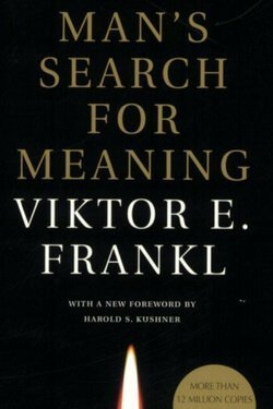 book cover Man's Search for Meaning by Viktor Frankl