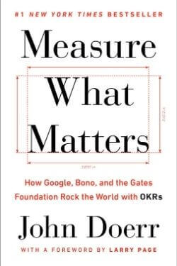 book cover Measure what Matters by John Doerr