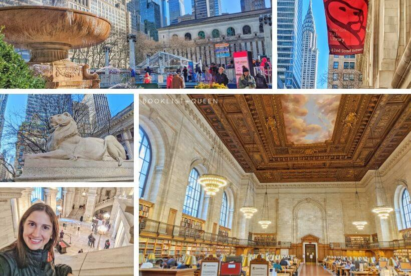 Collage - New York City for Book Lovers - The New York Public Library Main Branch