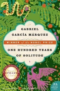 book cover One Hundred Years of Solitude by Gabriel Garcia Marquez