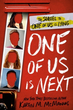 book cover One of Us is Next by Karen M. McManus