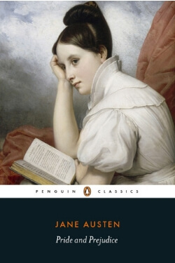 book cover Pride and Prejudice by Jane Austen