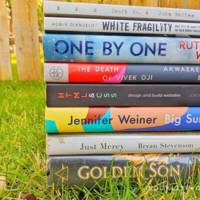 book stack - Rachael's reading lately