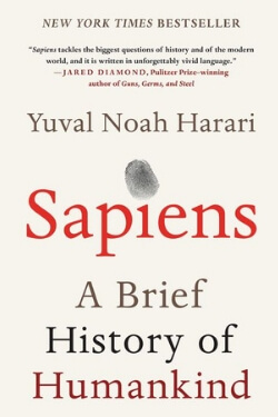 book cover Sapiens by Yuval Noah Harari