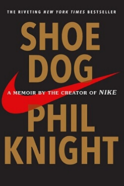 book cover Shoe Dog by Phil Knight