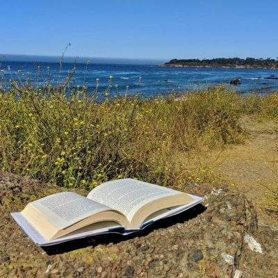 open book, California coast