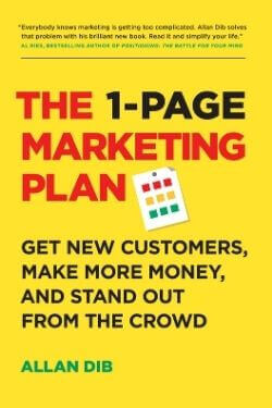 book cover The 1-Page Marketing Plan by Allan Dib