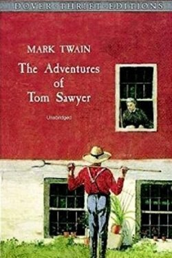 Book cover The Adventures of Tom Sawyer by Mark Twain