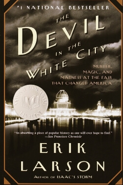 book cover The Devil in the White City by Erik Larson