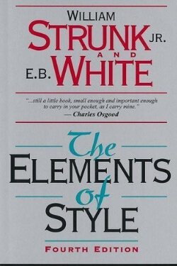 book cover The Elements of Style by William Strunk and E. B. White