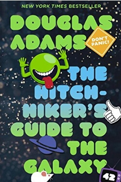 book cover The Hitchhiker's Guide to the Galaxy by Douglas Adams