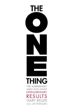 book cover The One Thing by Gary Keller