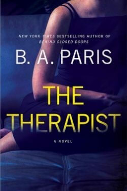 book cover The Therapist by B. A. Paris