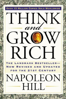 book cover Think and Grow Rich by Napoleon Hill