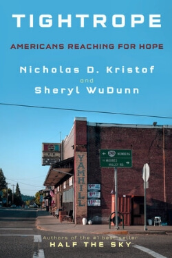book cover Tightrope by Nichals D. Kristof and Sheryle WuDunn
