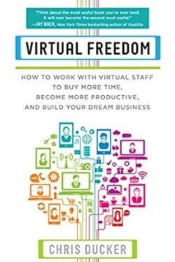 book cover Virtual Freedom by Chris Ducker