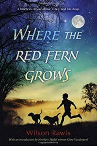 book cover Where the Red Fern Grows by Wilson Rawls